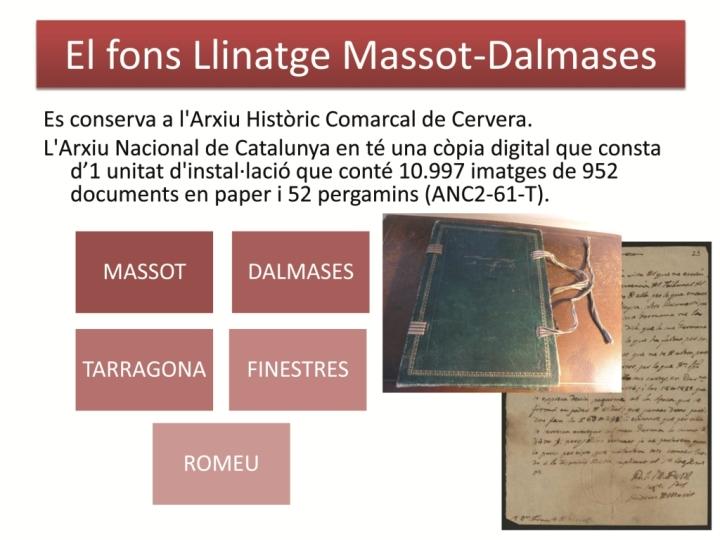 El fons Massot- Dalmases