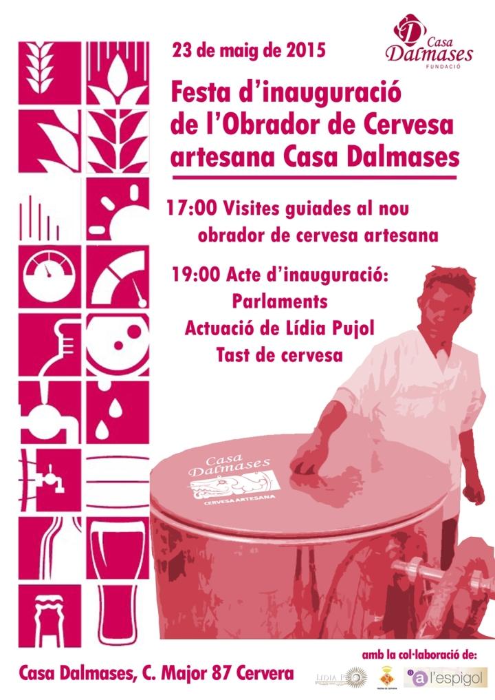 Cartell Inauguracio Obrador Maig 2015 -1
